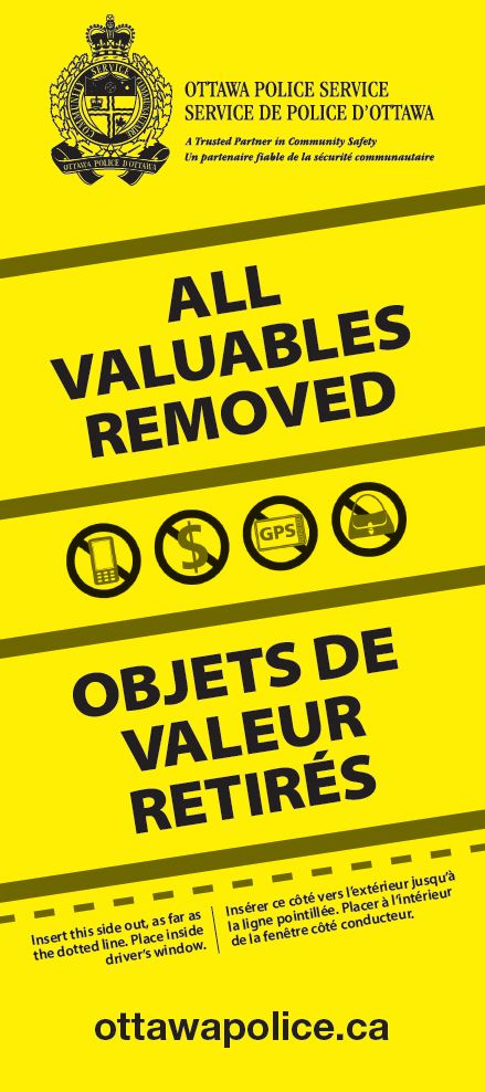 OPS Warn of Theft from Vehicles | George Darouze - Osgoode Ward